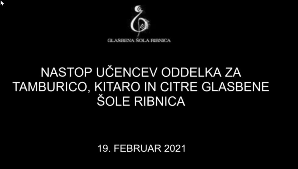 GŠ Ribnica - Nastop oddelka brenkal 19. 2. 2021