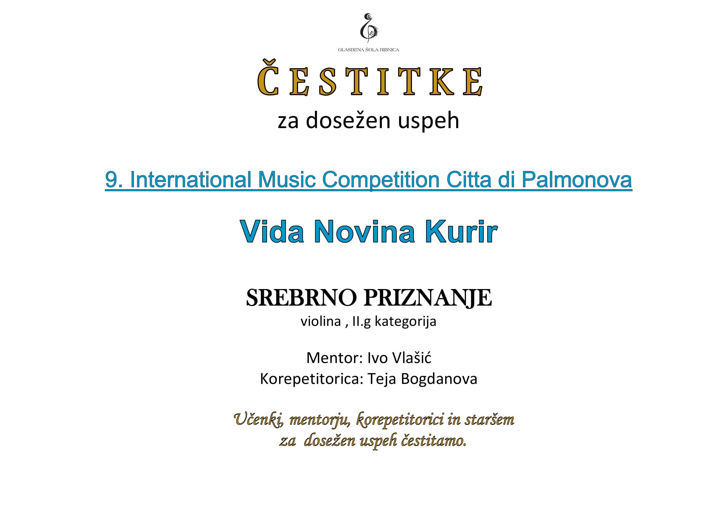 9. International Music Competition Citta di Palmanova-1