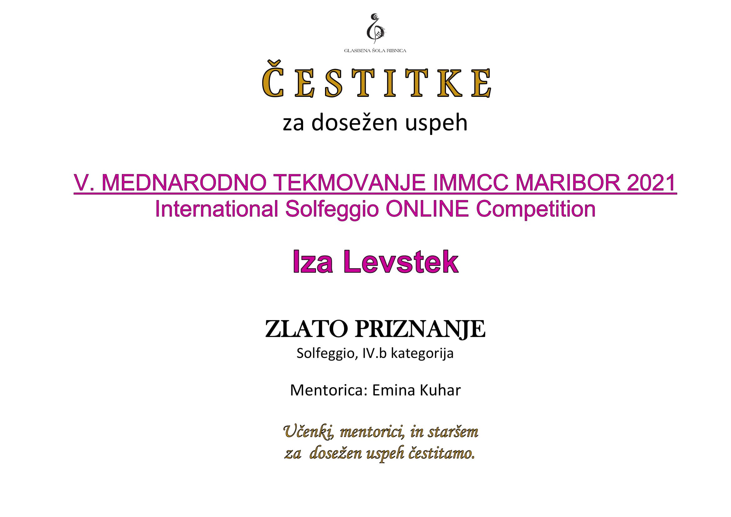 Iza Levstek Solfeggio -1